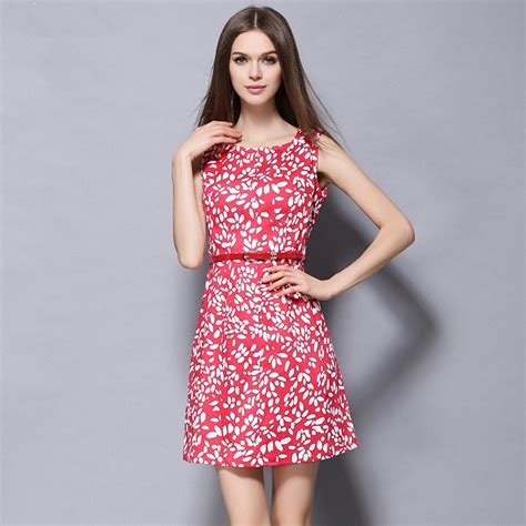 New Print Summer Dress S M L Xl Blue 19036 2016 new arrival summer work dress o neck sleeveless print a line dress s m l xl plus