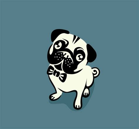 pug vector free honest pug design vector graphics my free photoshop world