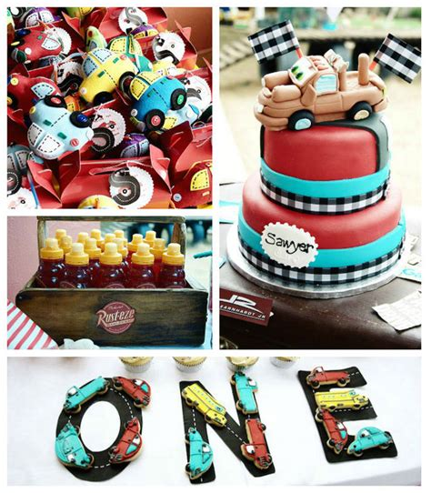 cars themed birthday ideas kara s party ideas car themed 1st birthday party via kara