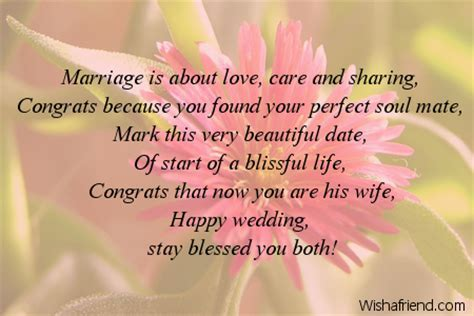 Marriage is about love, care and, Wedding Message