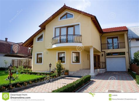tiny petite small villa stock image image of property rezidential