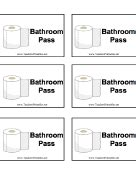 bathroom pass template passes