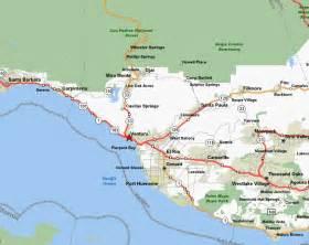 ventura california map description of bike rides in ventura county