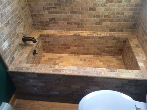 tiled bathtubs 1000 images about master bathroom on pinterest