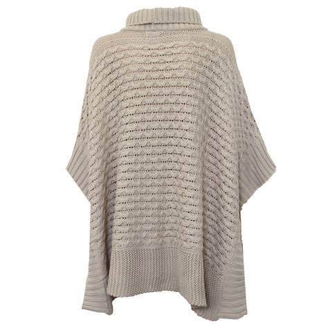 knitted cape cardigan poncho jumper womens knitted cape sweater top check