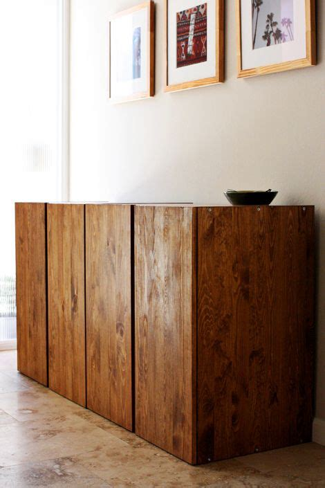 ivar cabinet hack love these stained pine ikea ivar cabinets very classy
