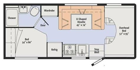 class b floor plans used 2016 winnebago minnie winnie 25b class c for sale 1336917