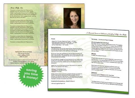 Program Template Colors And Printers On Pinterest Free Sle Funeral Program Template