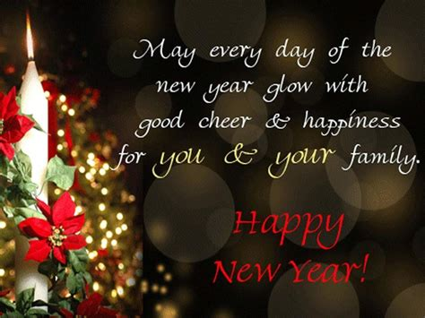 happy new year wishes for family happy holidays