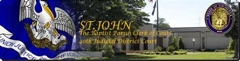 St Johns Clerk Of Court Records St The Baptist Parish Clerk Of Court Home