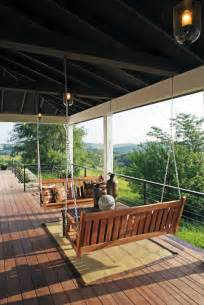 porch swings atlanta reinventing your deck with traditional porch swings