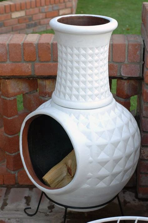 Painting A Chiminea step 1 find ridiculously deal on terra cotta chiminea step 2 paint it gloss white or