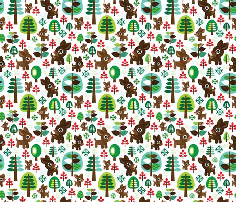 pattern for fabric reindeer retro reindeer christmas fabric pattern fabric