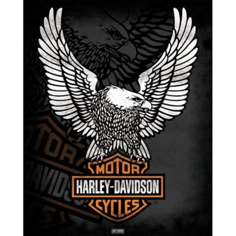 harley davidson logo mini poster shop now
