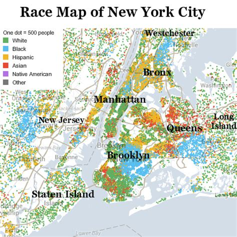 map of new york city and surrounding areas racial map of new york city and surrounding areas