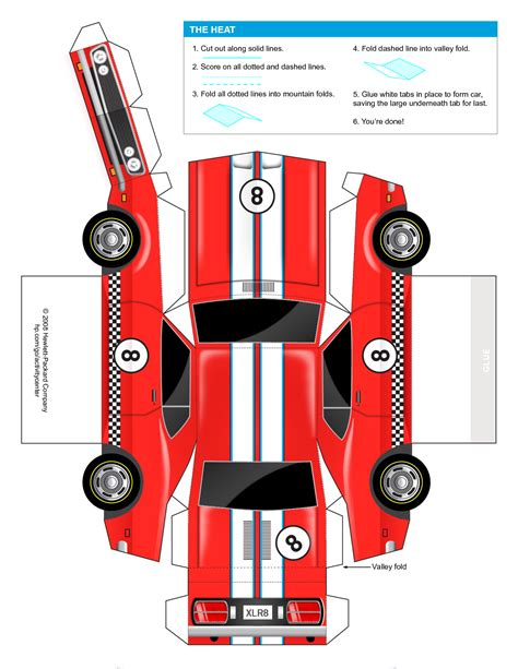 template for a car 5 best images of paper car templates printable mustang