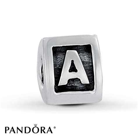 jared pandora letter a charm sterling silver