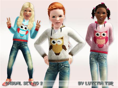 child sims 3 jeans lutetia s casual set no 2