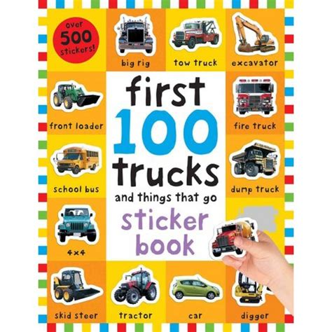 Sticker Book 100 stickers trucks and things that go sticker