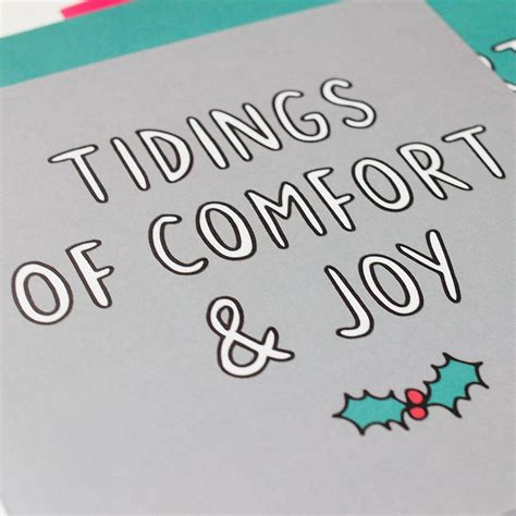 tiding of comfort and joy tidings of comfort and joy christmas card by veronica