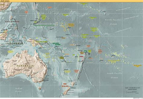 south pacific map south pacific map