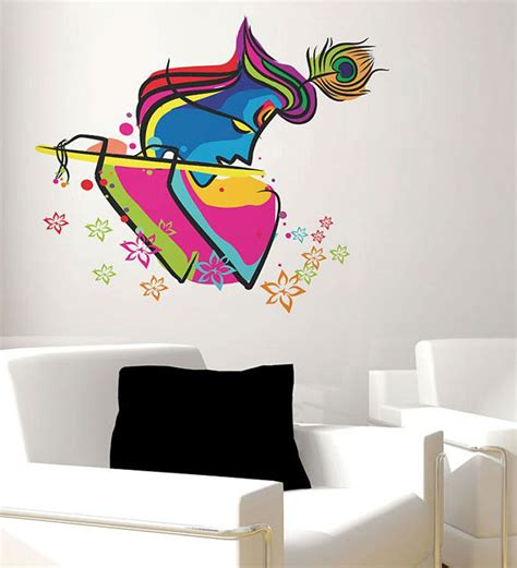 abstract wall stickers buy walltola s abstract krishna pvc vinyl wall sticker other wall stickers wall