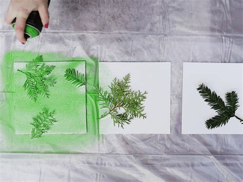 spray paint on leaf turn leaves and foliage into diy canvas wall hgtv