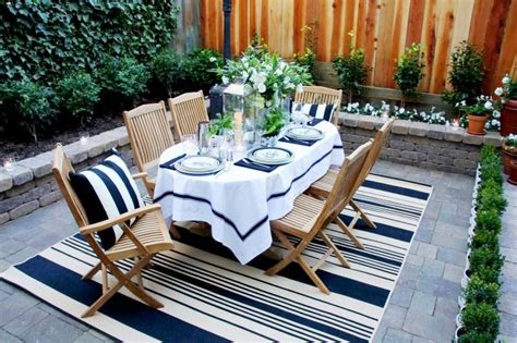 outdoor rugs outdoor decor outdoor furniture the magnolia tree navy blue and white striped floor rug