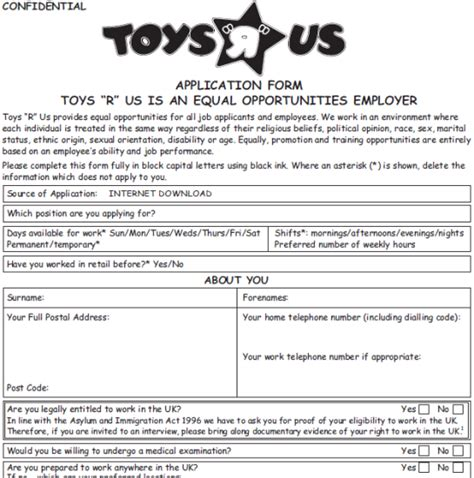 printable job application for big lots toys r us job application form in pdf printable job