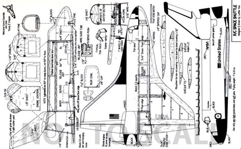 Dimensioned Floor Plan rc space shuttle model aviation