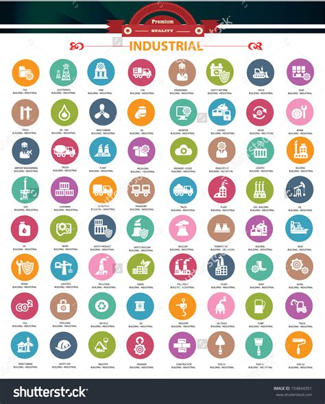 shortcuts on pinterest 15 pins industrial icons colorful version vector industries set