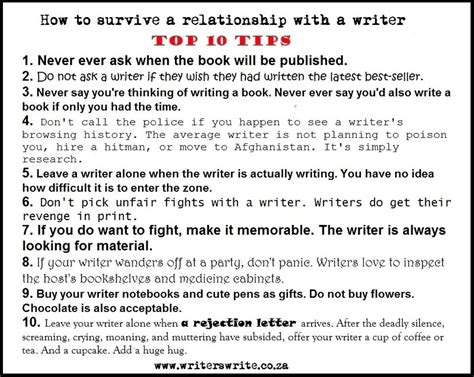 12 Tips On How To Date by How To Date A Writer Taking On A World Of Words