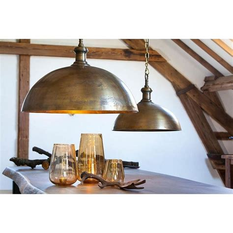 antique brass kitchen lighting industrial style dome pendant light in brass finish 27 5w