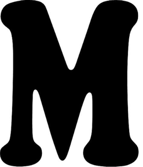 moldes de letra m molde letra m imagui