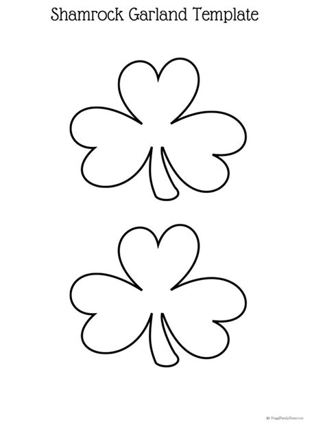 easy st patrick s day craft diy shamrock garland