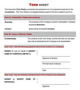 non binding term sheet template term sheet template 9 free documents in pdf word