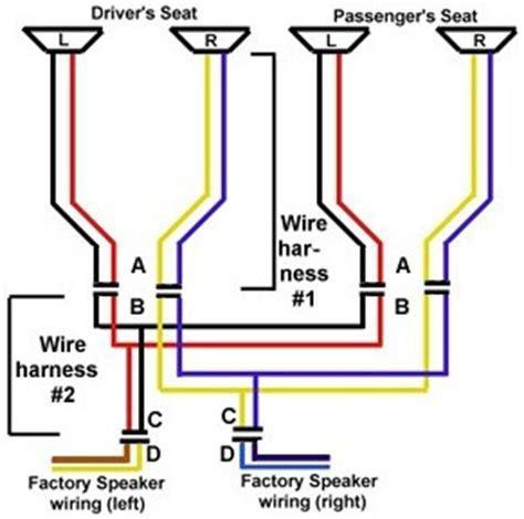wiring fiero headrest speakers