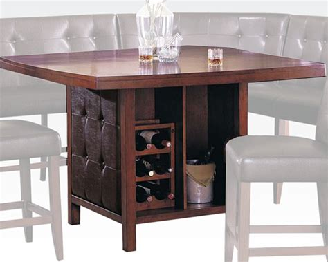 bar top height tables wood top counter height table bravo by acme ac07250