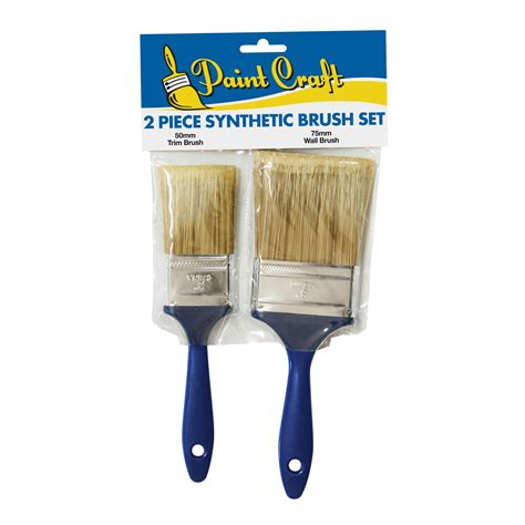 Pro Brush Synthetic 50 paint craft 2 synthetic brush set 50mm 75mm unipro