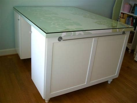 What Are Ikea Kitchen Cabinets Made Of This Craft Table With Storage Was Made From Ikea Kitchen Cabinets For The Home