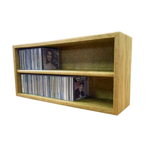 Cd Storage Rack by Wood Shed Solid Oak Cd Storage Rack 124 Cd Capacity Tws 203 2