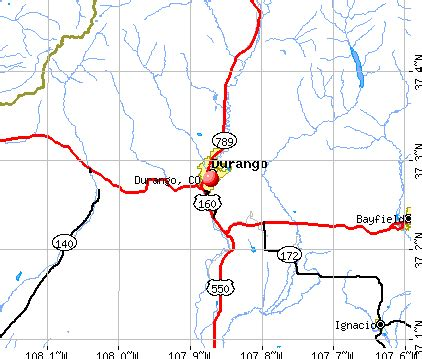 map colorado durango area