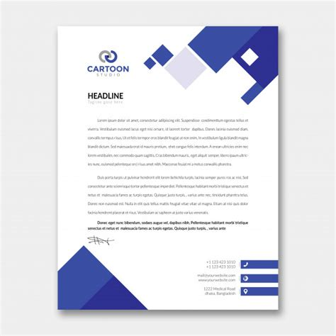 letterhead template psd file premium