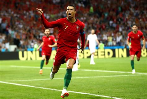spain vs portugal world cup spain vs portugal ronaldo nets hat trick in thrilling 3 3
