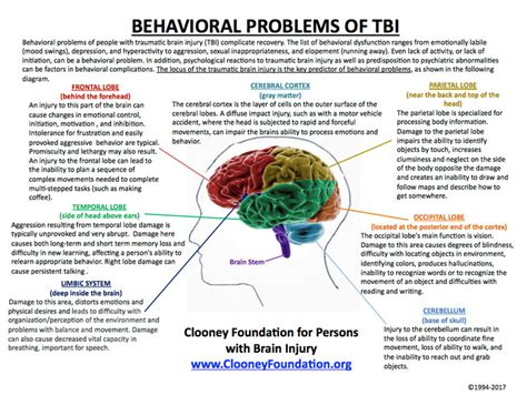 mood swings after head injury behavioral problems of tbi
