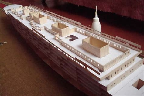 How To Make A Paper Titanic Model - a paper model of titanic