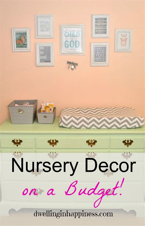 Decorating Nursery On A Budget Nursery Decor On A Budget Dwelling In Happiness
