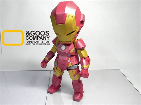 Ironman Papercraft - sd iron papercraft by n goos