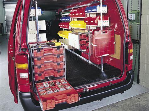 work van layout ideas tradies work roof rack world