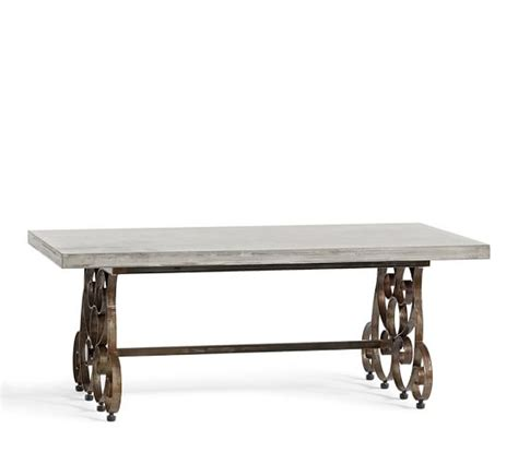 Concrete Coffee Table Top Rosalie Concrete Top Coffee Table Pottery Barn